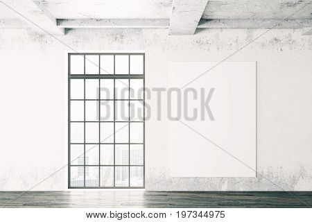 Room Interior With Empty Poster