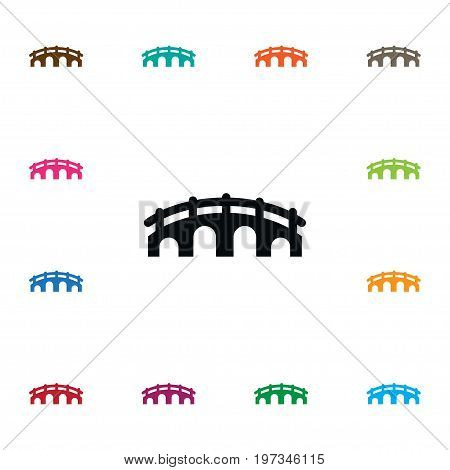 Suspension Vector Element Can Be Used For Suspension, Bridge, Arch Design Concept.  Isolated Arch Icon.