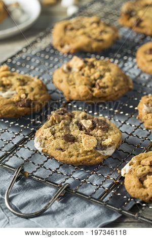 Homemade Gooey Smores Cookies