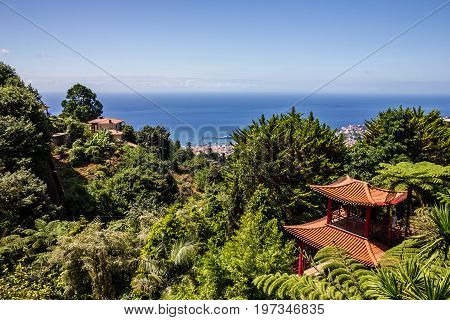 Chineese house, Madeira, Portugal, botanical garden Monte