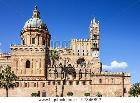 Palermo Cathedral church building architecture, Sicily, Italy