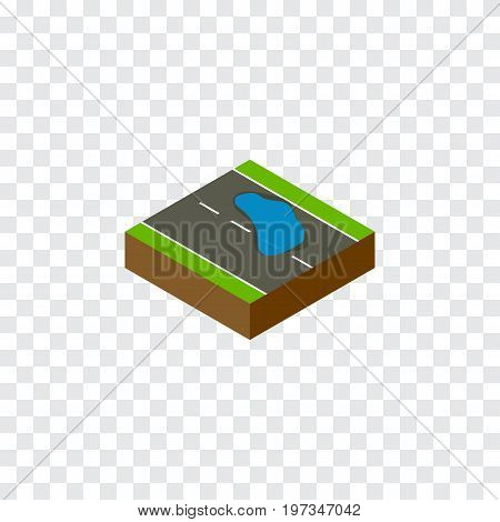 Plash Vector Element Can Be Used For Plash, Puddle, Road Design Concept.  Isolated Puddle Isometric.
