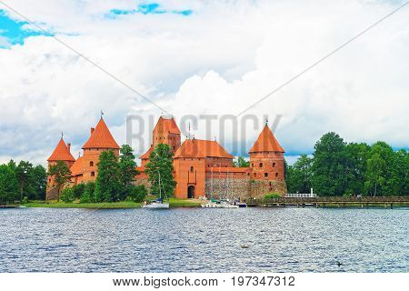 Galve Lake And Trakai Island Castle Museum Baltic