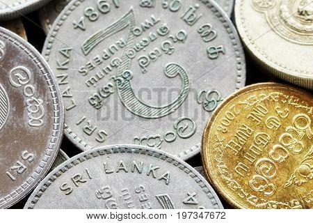 Close Up Picture Of Sri Lankan Rupee.