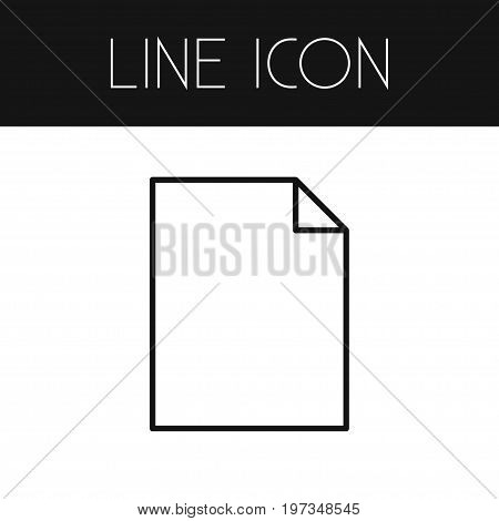 Sheets Vector Element Can Be Used For File, Sheets, Paper Design Concept.  Isolated File Outline.