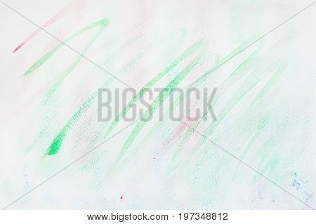Watercolor stains, strokes of green shades. Abstract watercolor background. Delicate shades of tender spring colors, Hand-drawn background, paper texture. Artwork for creative banner, card, template, design
