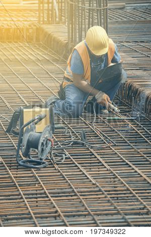 Welding Angled Rebar For Concrete Reinforcing 2