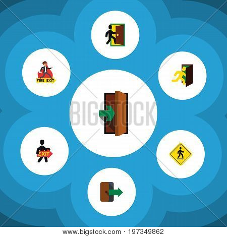 Flat Icon Emergency Set Of Direction Pointer, Emergency, Directional And Other Vector Objects