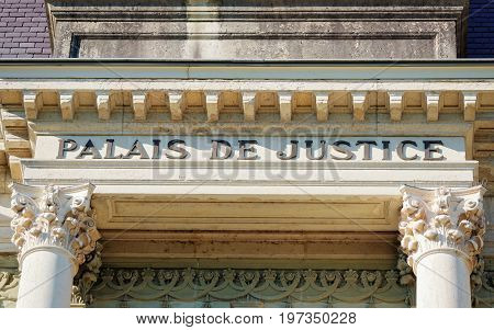 Fragment Of Palace Of Justice At Lausanne