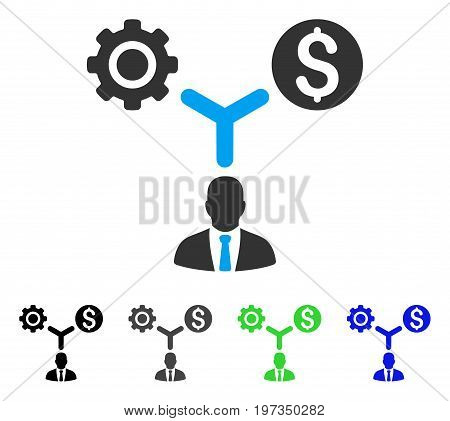 Business Scheme flat vector icon. Colored business scheme gray, black, blue, green icon versions. Flat icon style for application design.