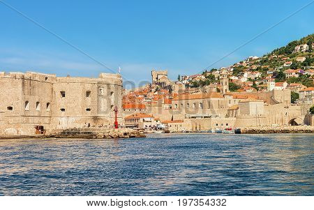 Saint John Fortress And Old Port At Adriatic Sea Dubrovnik