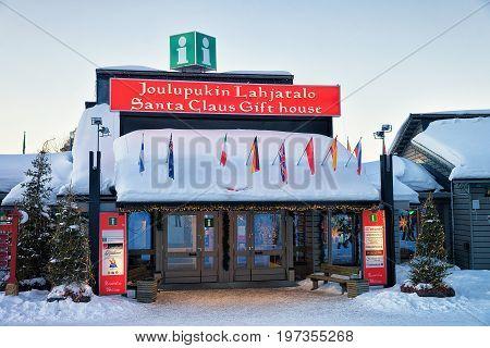 Santa Claus Gift House In Lapland Scandinavia