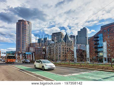 Holocaust Memorial At Union Street Park At Boston America