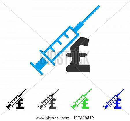 Narcotic Pound Business flat vector pictograph. Colored narcotic pound business gray, black, blue, green icon variants. Flat icon style for web design. poster