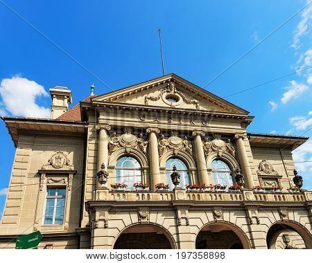 Facade Of Casino Building In Bern Swiss