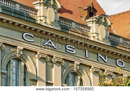 Detail Of Casino Building In Bern Swiss