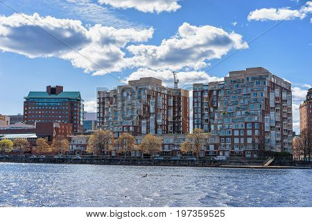 Pier 6 In Charles River Boston Ma America