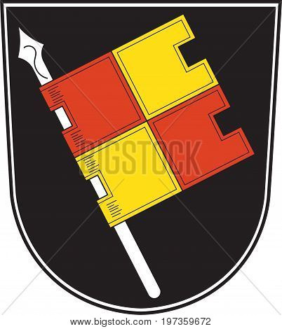 Coat of arms of Wurzburg is a city in the region of Franconia northern Bavaria Germany. Vector illustration from the