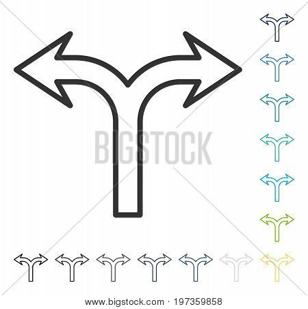 Choice Arrow Left Right icon. Vector illustration style is flat iconic symbol in some color versions.