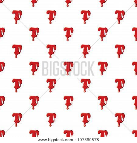T letter isolated on white background. Red bloody T letter vector illustration