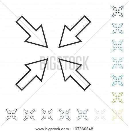 Compact Arrows icon. Vector illustration style is flat iconic symbol in some color versions.