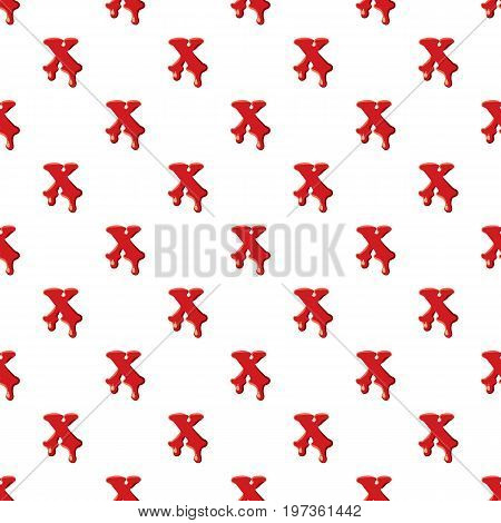 X letter isolated on white background. Red bloody X letter vector illustration