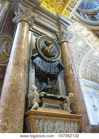 19.06.2017 Vatican City: Saint Paul's Cathedral interior.