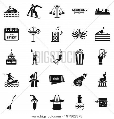 Enchantment icons set. Simple set of 25 enchantment icons for web isolated on white background