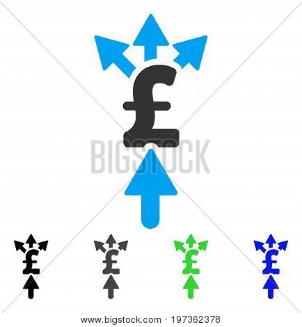 Share Pound Payment flat vector icon. Colored share pound payment gray, black, blue, green pictogram variants. Flat icon style for application design.