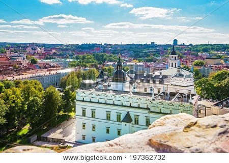 Lower Castle Museum And Belfry Of Vilnius Baltic