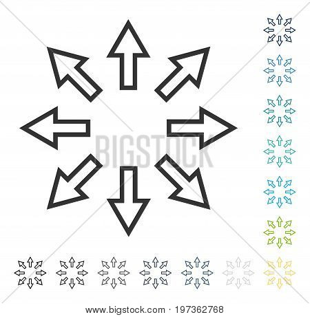 Explode Arrows icon. Vector illustration style is flat iconic symbol in some color versions.