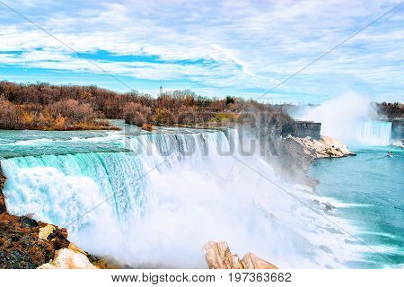 Niagara Falls Usa Nature Early Springtime