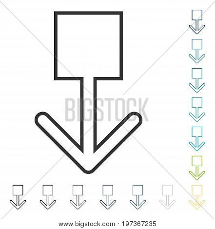 Pull Down icon. Vector illustration style is flat iconic symbol in some color versions.
