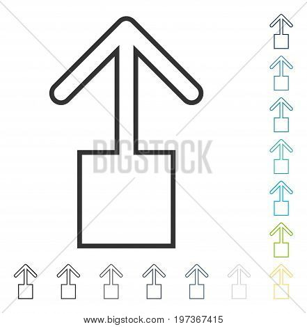 Pull Up icon. Vector illustration style is flat iconic symbol in some color versions.