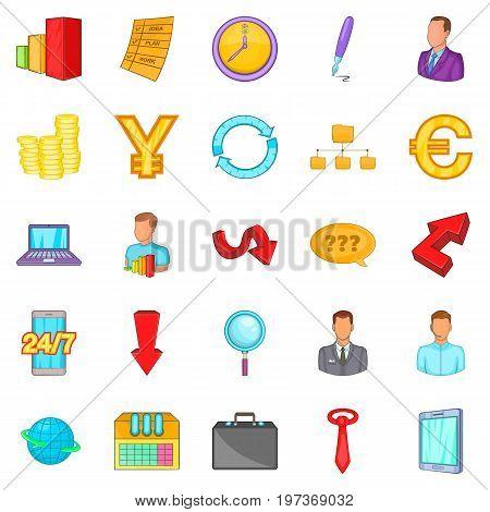 Cashback icons set. Cartoon set of 25 cashback icons for web isolated on white background