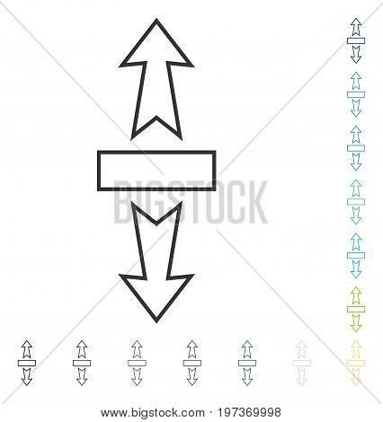Stretch Arrows Vertically icon. Vector illustration style is flat iconic symbol in some color versions.