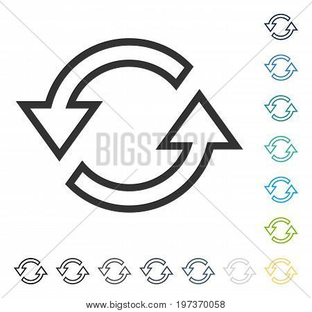 Sync Arrows icon. Vector illustration style is flat iconic symbol in some color versions.