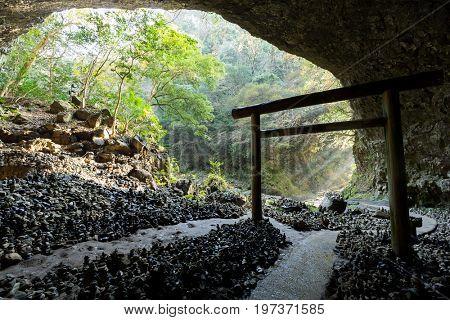 Torii inside cave