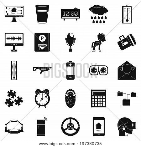 Technical specialist icons set. Simple set of 25 technical specialist icons for web isolated on white background