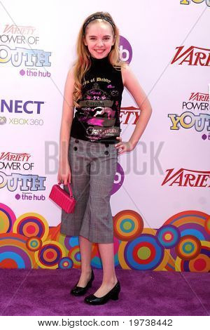 LOS ANGELES - OCT 24:  Darcy Rose Byrnes arrives at the Variety Power of Youth Event 2010 at Paramount Studios on October 24, 2010 in Los Angeles, CA