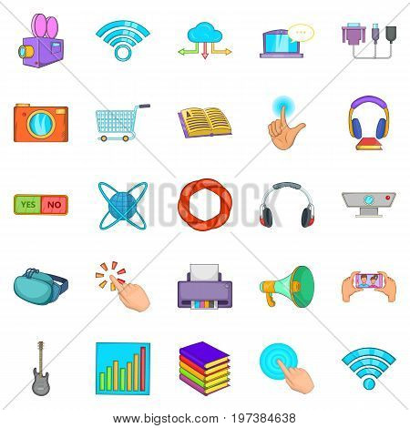 Attachment icons set. Cartoon set of 25 attachment vector icons for web isolated on white background