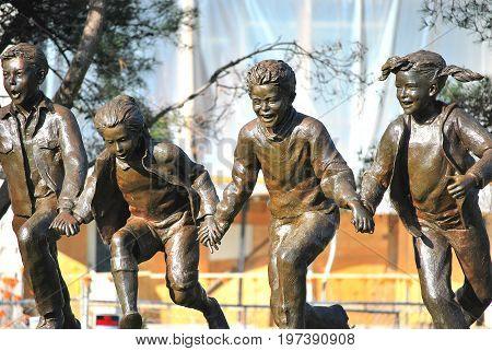 MARCH 6, 2010. SEATTLE, WA. CIRCA: Back to school statue in Seattle, Wa.
