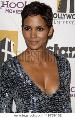 LOS ANGELES - OCT 25:  Halle Berry arrives at the 14th Annual Hollywood Awards Gala at Beverly Hilton Hotel on October 25, 2010 in Beverly Hills, CA