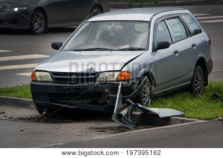 Accident In The City On The Road
