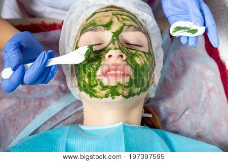 Beautician Makes A Therapeutic Spa Mask