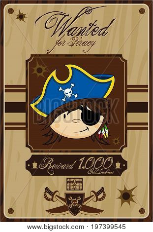 Eyepatch Pirate Poster.eps