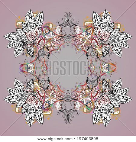 Magic holiday abstract background with star and falling snowflakes. Christmas s. Vector illustration.