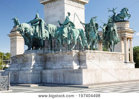 The Fragment Of The Millennium Monument. Budapest. Hungary
