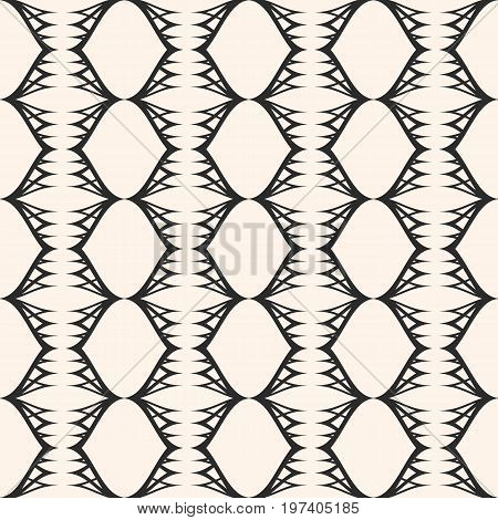 Vector seamless pattern, lace, texture, tissue, mesh. Modern stylish background with thin curved lines. Abstract monochrome ornament, repeat tiles. Design element for tileable print. Design pattern, textile pattern, decor pattern, fabric pattern.