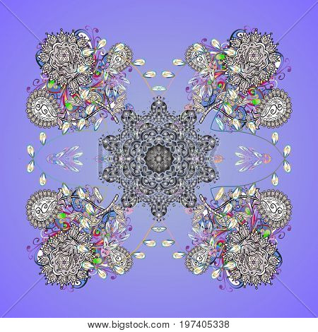Colorful snowflakes Vector illustration. Isolated of vector snowflake. Fine winter ornament.